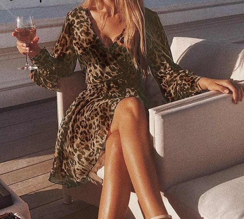 LEILANI LEOPARD DRESS