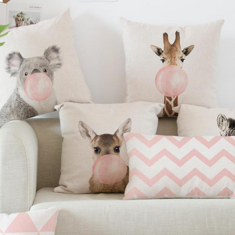 K|B Koala, Giraffe, Zebra Cushion Covers