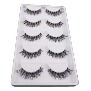 Five Pairs Natural False Eyelashes
