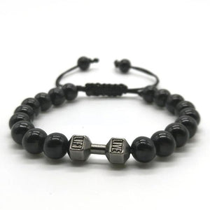 Men's Fitness Prayer Dumbbell Bracelet