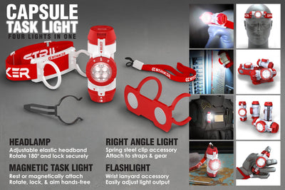 Capsule 4 in 1 flashlight / headlamp