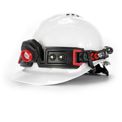 Striker Concepts FLEXIT Headlamp 2.5 on hard hat