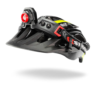 Striker Concepts FLEXIT Headlamp 2.5 on bicycle helmet front