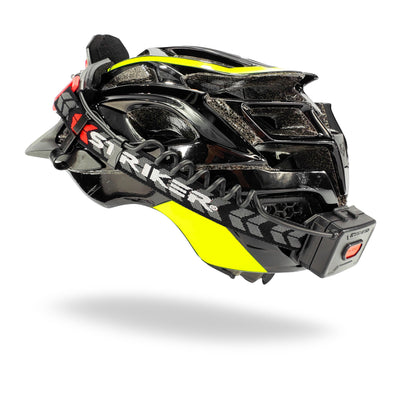 Striker Concepts FLEXIT Headlamp 2.5 on bicycle helmet rear