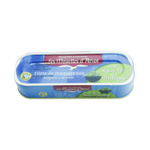 Mouettes d'Arvor Mackerel Fillets with Organic Brittany Seaweed 5.9 oz