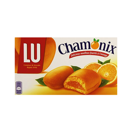 Chamonix Orange Filled Sponge Biscuits by LU 8.8 oz