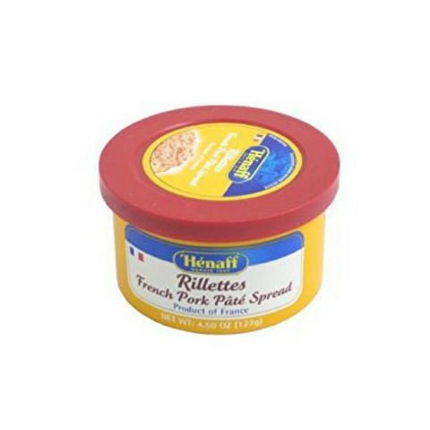 6 Pack Henaff French Pork Pate Spread Rillettes Multipack