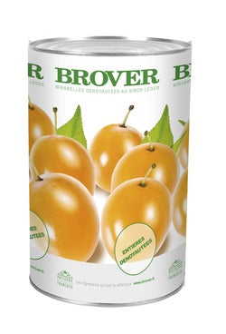 Brover Mirabelle Plums in light syrup - 3 x 4 kg (Wholesale prices. Sold per case only)