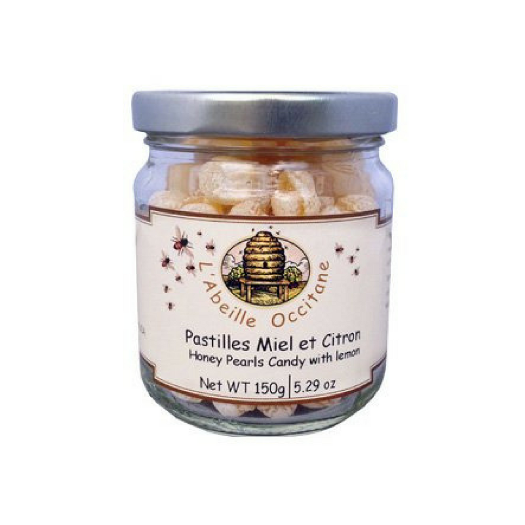 L'Abeille Occitane Honey Pearls Candy with Lemon 5.2 oz. (150g)