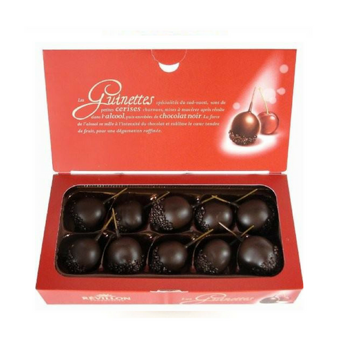 Révillon · Chocolate covered macerated cherries · 125g (4.4 oz)