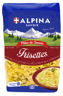 Alpina Savoie Frisettes (3 wings curls pasta) - 9 x 17.6 oz (Wholesale prices. Sold per case only)