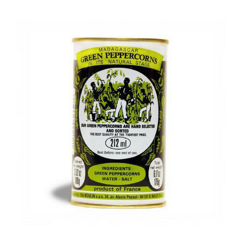 Moulin · Green peppercorns in brine · 100g (3.5 oz)