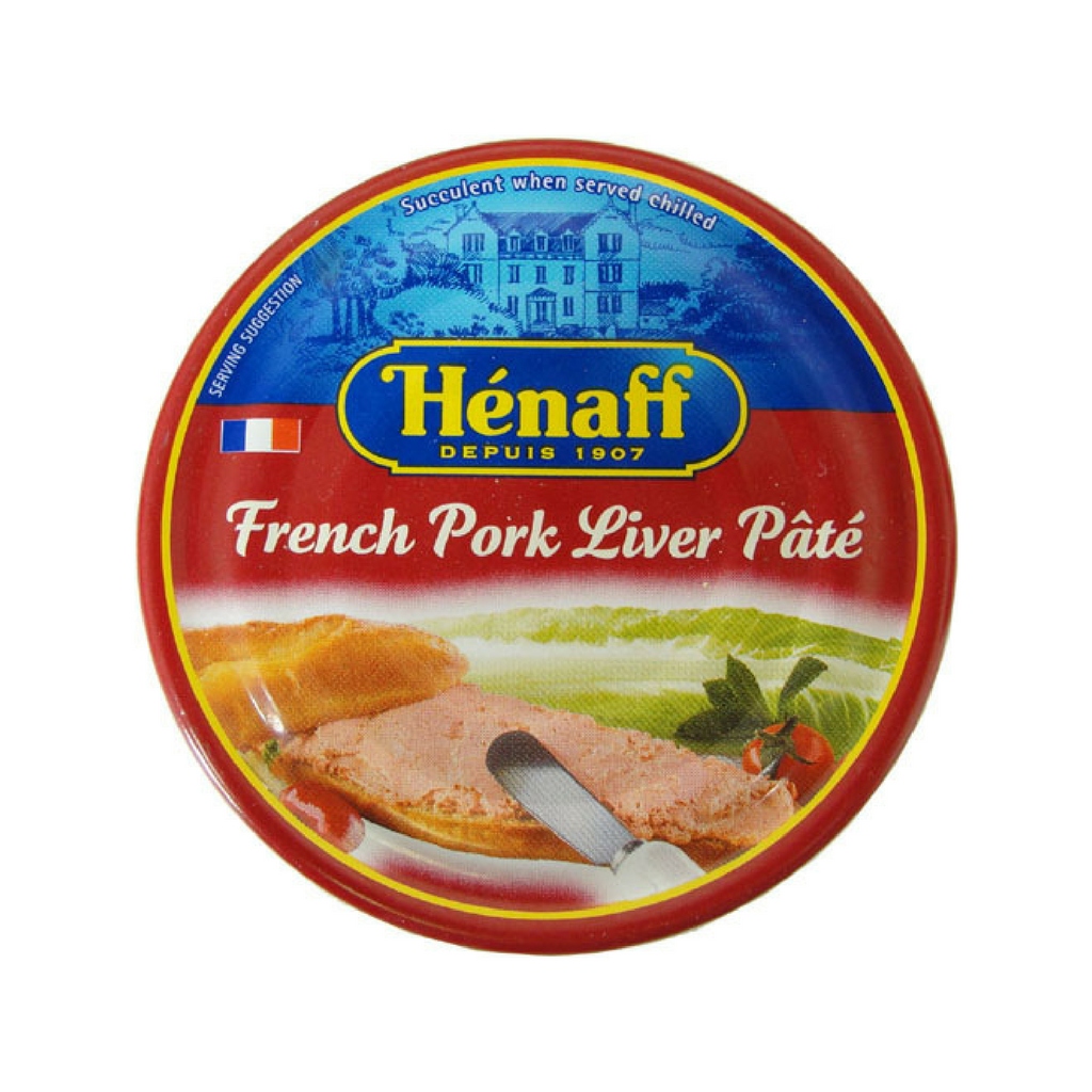 6 Pack Henaff Authentic French Pork Liver Pate Multipack