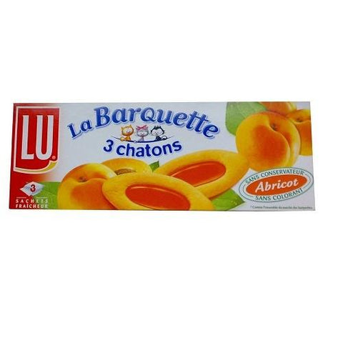 Lu · Barquettes 3 chatons, apricot · 120g (4.2 oz)