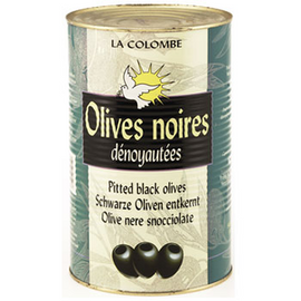 Les Jardins de Saint Benoit Black Pitted Olives - 3 x 9.1 lbs (Wholesale prices. Sold per case only)
