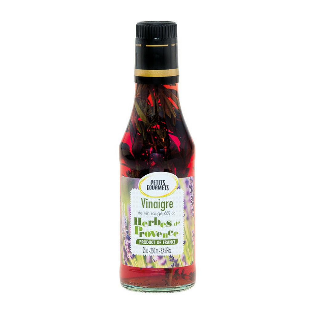Red wine vinegar 6° with provence herbs 25cl