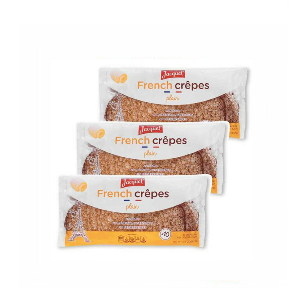 Jacquet Plain French Crepes 10 Crepes x 3 Packs