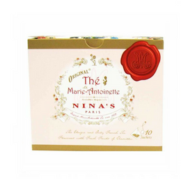 Nina's Paris Original French Marie Antoinette Tea Box 10 Sachets