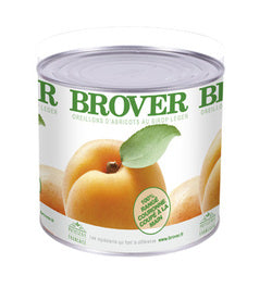 Brover Apricot Halves in light syrup (crown packed) - 6 x 2.2 kg (Wholesale prices. Sold per case only)