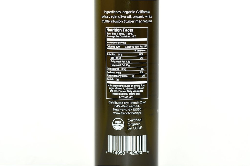 White Truffle Infused Extra Virgin Olive Oil 8.45fl oz (250ml) Case of 6 Units - Multipack