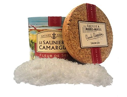 Le Saunier De Camargue Fleur De Sel Sea Salt, 4.4 Ounce Canisters Case of 6 Units - Multipack