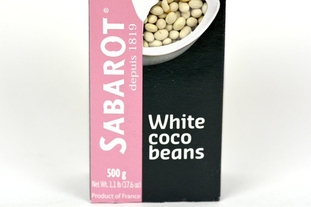 Sabarot White Coco Beans (Haricots Cocos) 500g Case of 20 Units - (Wholesale prices. Sold per case only)