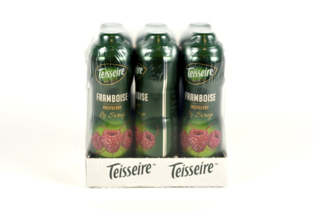 Teisseire Raspberry French Syrup 60cl Case of 6 - Multipack