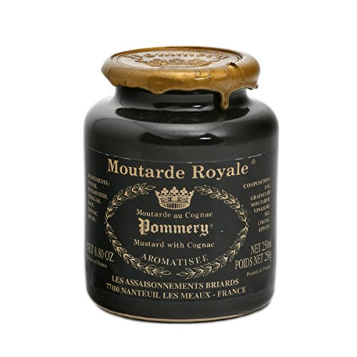 Pommery Mustard 6 Mustard Assortment Meaux Moutarde 250g (Honey Mustard, Royal with Cognac and Classic) in Gift Box
