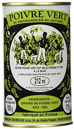 Moulin Madagascar Green Peppercorns in Brine 212ml (6.17oz) Case of 24 Units - Wholesale