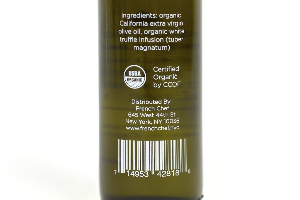 White Truffle Infused Extra Virgin Olive Oil 100ml Case of 12 Units - Wholesale