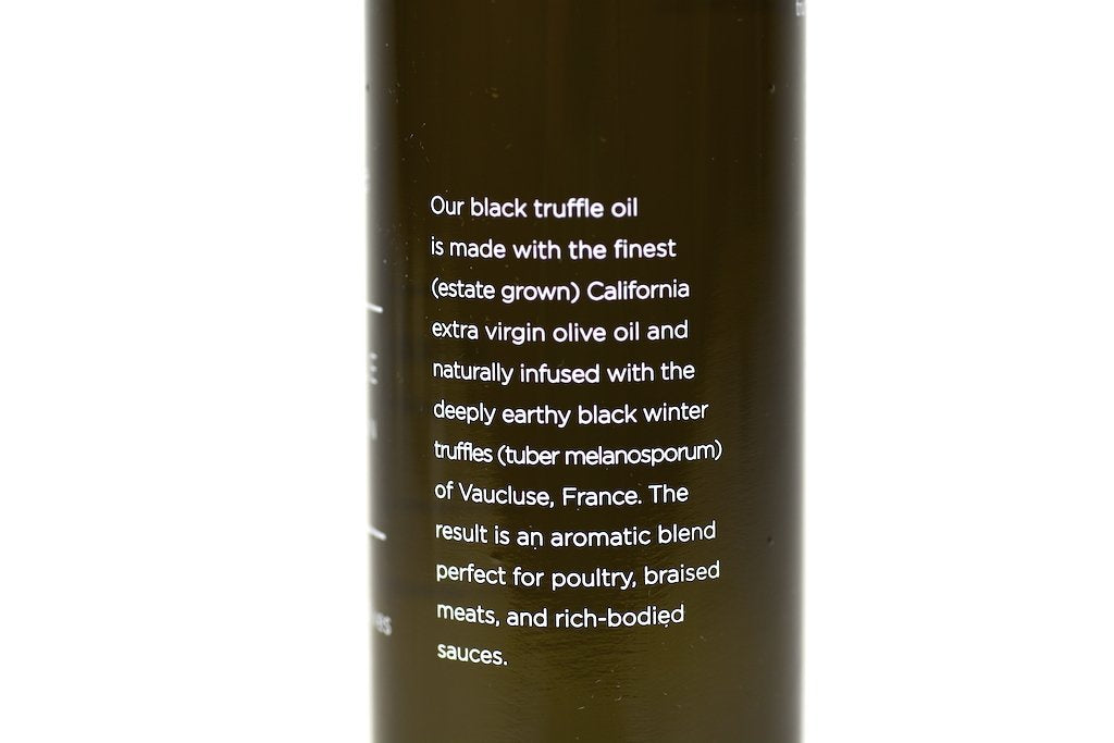 Black Truffle Infused Extra Virgin Olive Oil 8.45fl oz (250ml) Case of 6 Units - Multipack