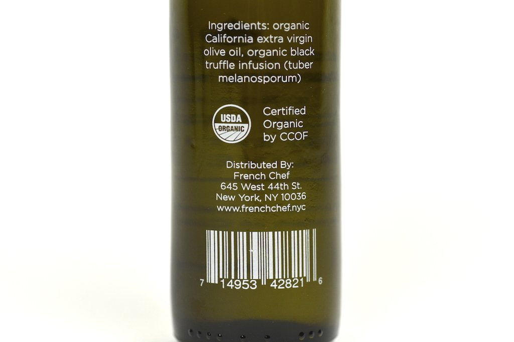 Black Truffle Infused Extra Virgin Olive Oil 100ml Case of 6 Units - Multipack