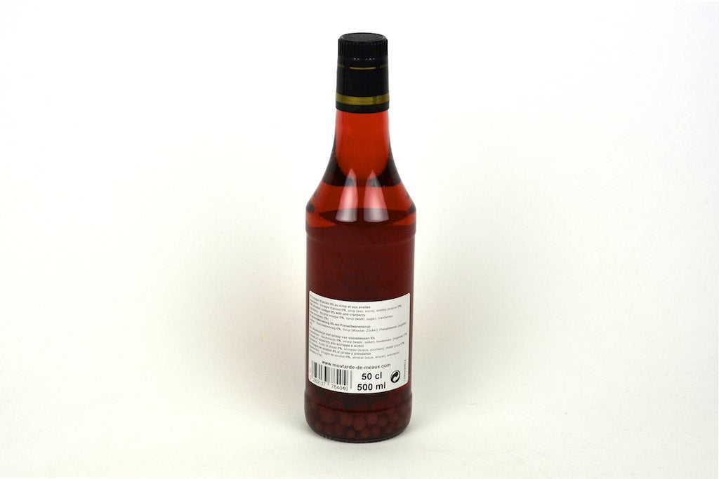 Moutarde de Meaux White Alcohol Vinegar 6% flavoured with Cranberry Syrup and Fruits 50cl Case of 6 Units - Multipack