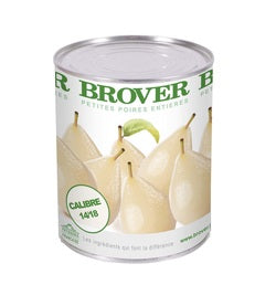 Brover Mini-Pears in light Syrup - 12 x 850 g (Wholesale prices. Sold per case only)