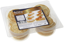 "IQF Mini Blinis (2.3"") - 90 x 16 pcs (4.76 oz) (Wholesale prices. Sold per case only)"