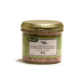 Henaff Pork Liver Confit with Herbs of Provence 3.2 oz. (90g)