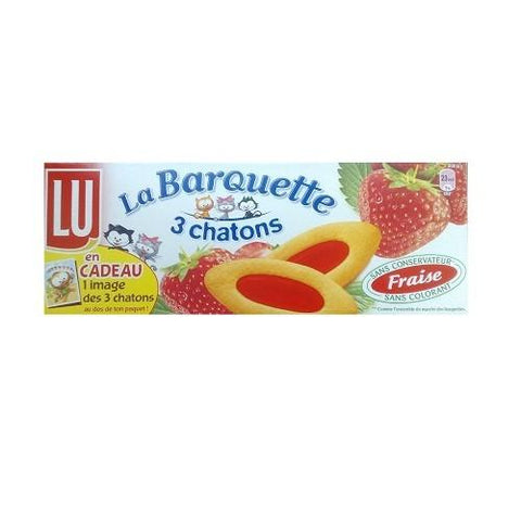 Lu · Barquettes 3 chatons, strawberry · 120g (4.2 oz)