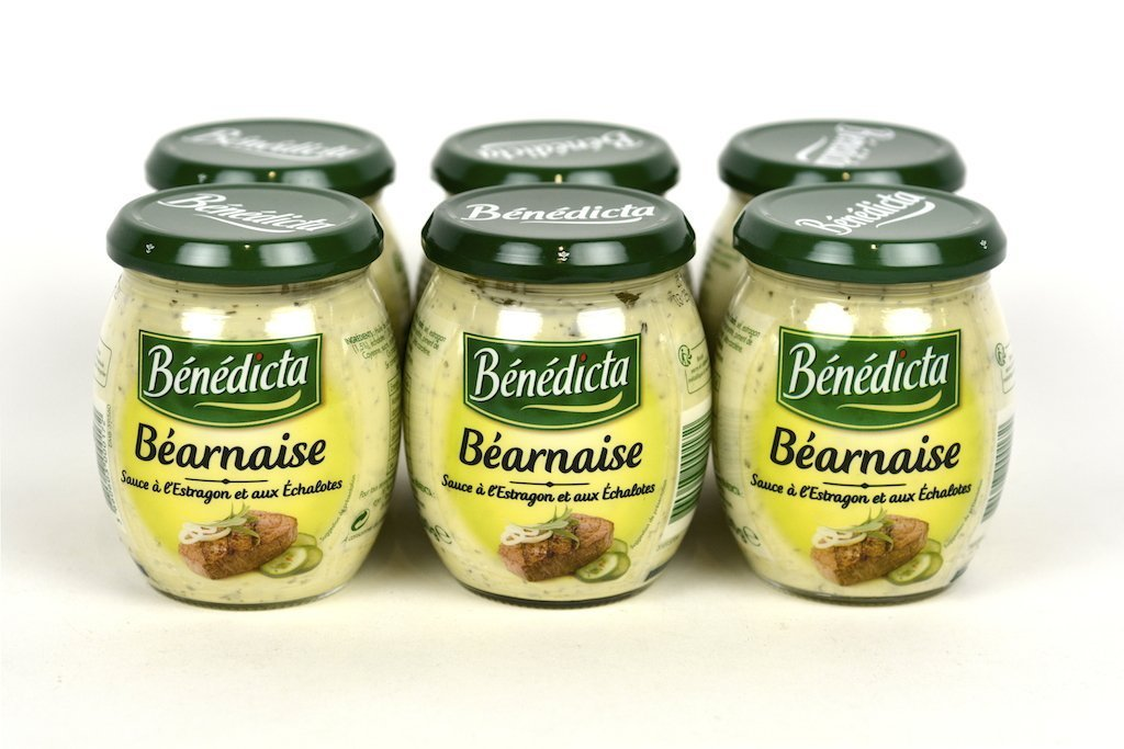 Benedicta Gourmet Bearnaise Sauce for Broiled or Grilled Meats 8.5oz(240g) Case of 6 Units - Multipack