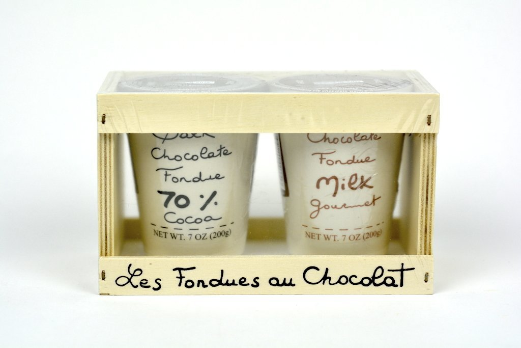 Aux Anysetiers du Roy Wood box with Chocolate Fondues Dark and Milk