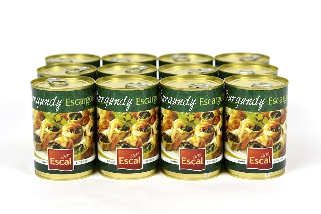 Escal French Burgundy Escargots Snails 3 Dozen Case of 12 Units - Wholesale