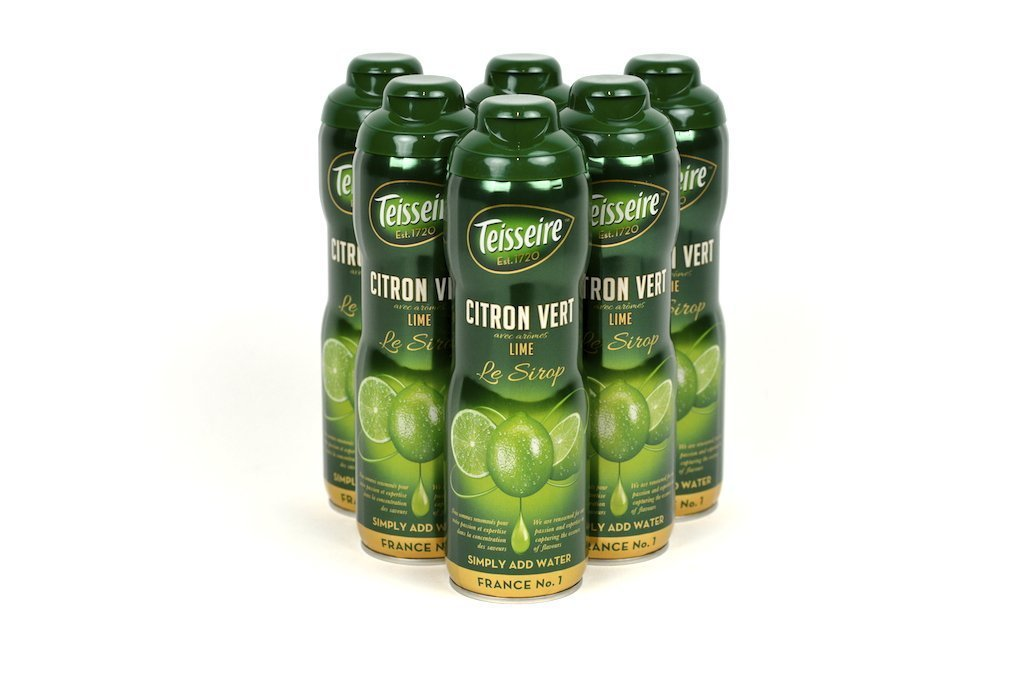 Teisseire Lime (Citron Vert) French Syrup 60cl Case of 6 - Multipack