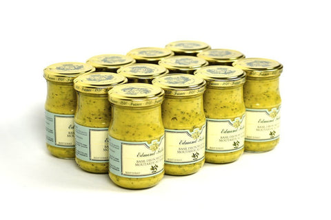 Edmond Fallot Dijon Mustard with Basil 7.2Oz Case of 24 Units - (Wholesale prices. Sold per case only)