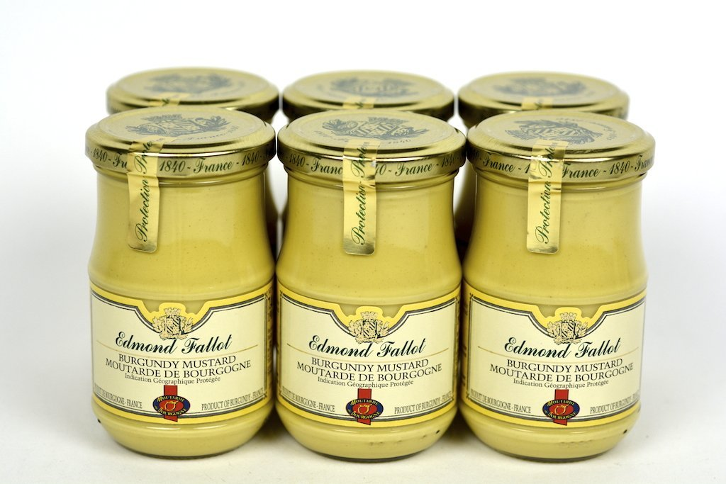 Edmond Fallot Dijon Mustard with Burgundy Wine 7.4Oz Case of 6 Units - Multipack