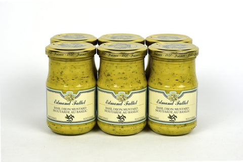 Edmond Fallot Dijon Mustard with Basil 7.2Oz Case of 6 Units - Multipack