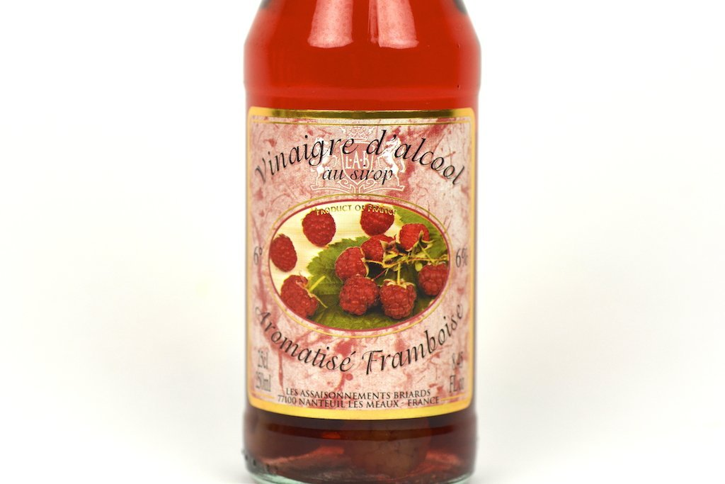 Moutarde de Meaux White Alcohol Vinegar 6% flavoured with Raspberry Syrup and Fruits 25cl Case of 6 Units - Multipack