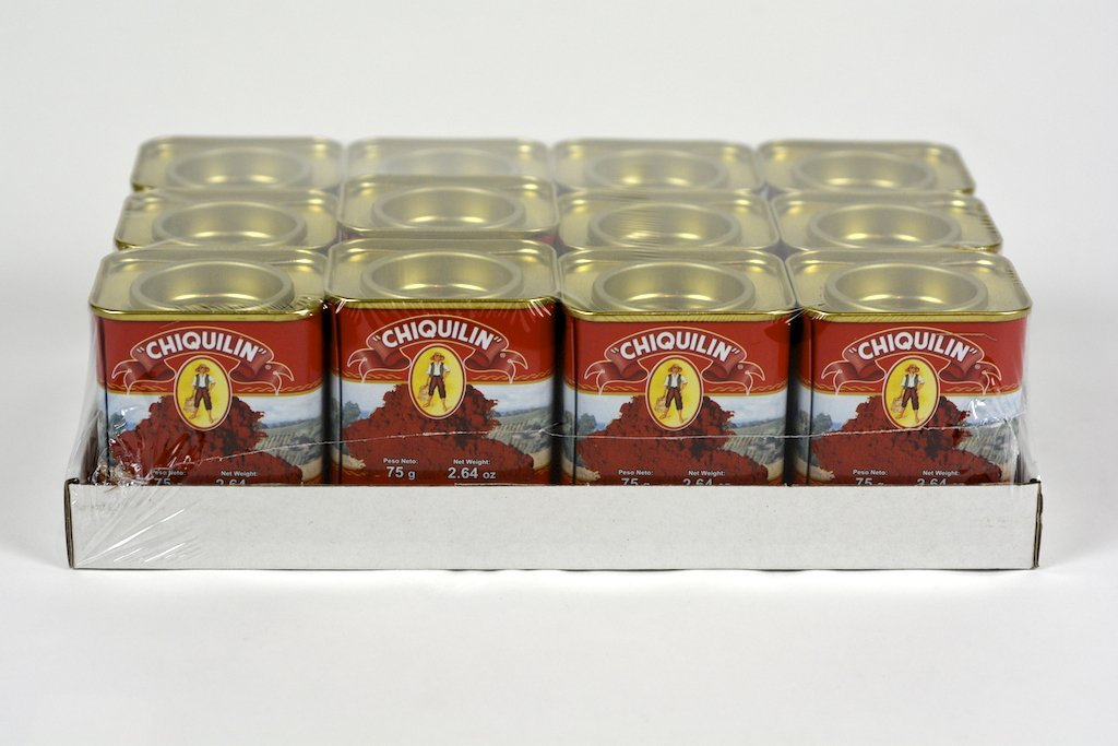 Chiquilin Spanish Hot Paprika 2.64 oz(75g) Case of 12 Units - Wholesale