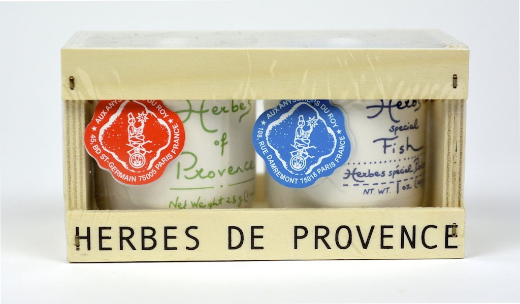 Aux Anysetiers du Roy - Wood box Herbs of Provence (Herbs of Provence & Herbs special Fish) - Case of 4 Units - Wholesale