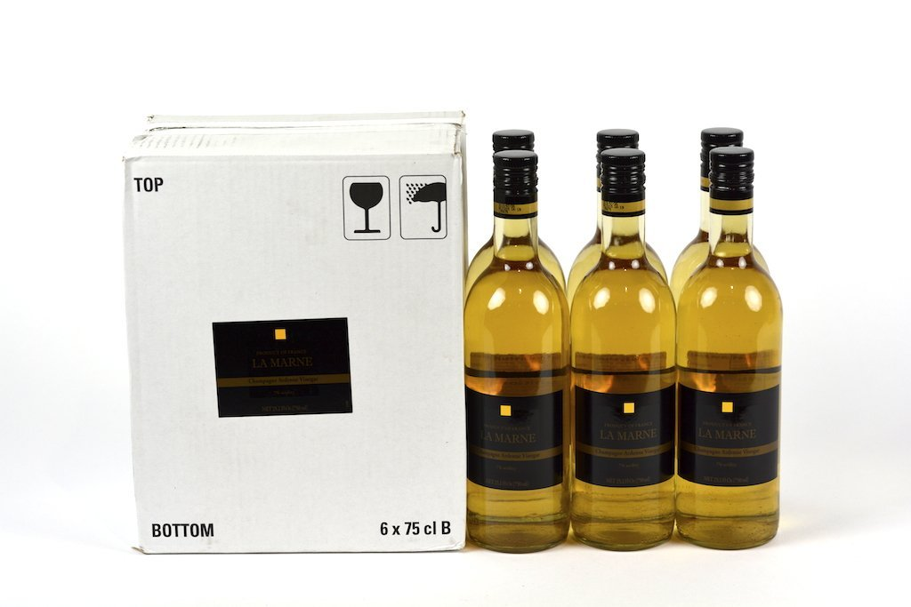 La Marne French Champagne Vinegar 75cl (25.4 fl oz) Case of 6 Units - Multipack