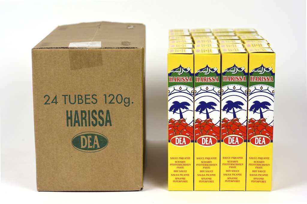 Dea Harissa Hot Sauce Tube From France(120g) Case of 24 Units - (Wholesale prices. Sold per case only)