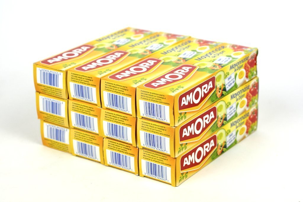 French Mayonnaise From Dijon Amora-Mayonnaise De Dijon 12 Tube Pack - Wholesale